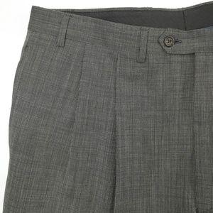 Lauren Ralph Lauren Gray Nailhead Wool Dress Pants